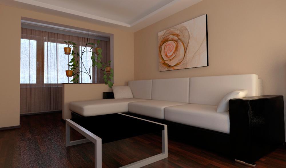 Примеры присоединения балконов и лоджий к комнате.