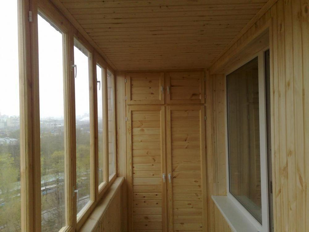 Примеры отделки балконов и лоджий деревянной вагонкой от (оо.
