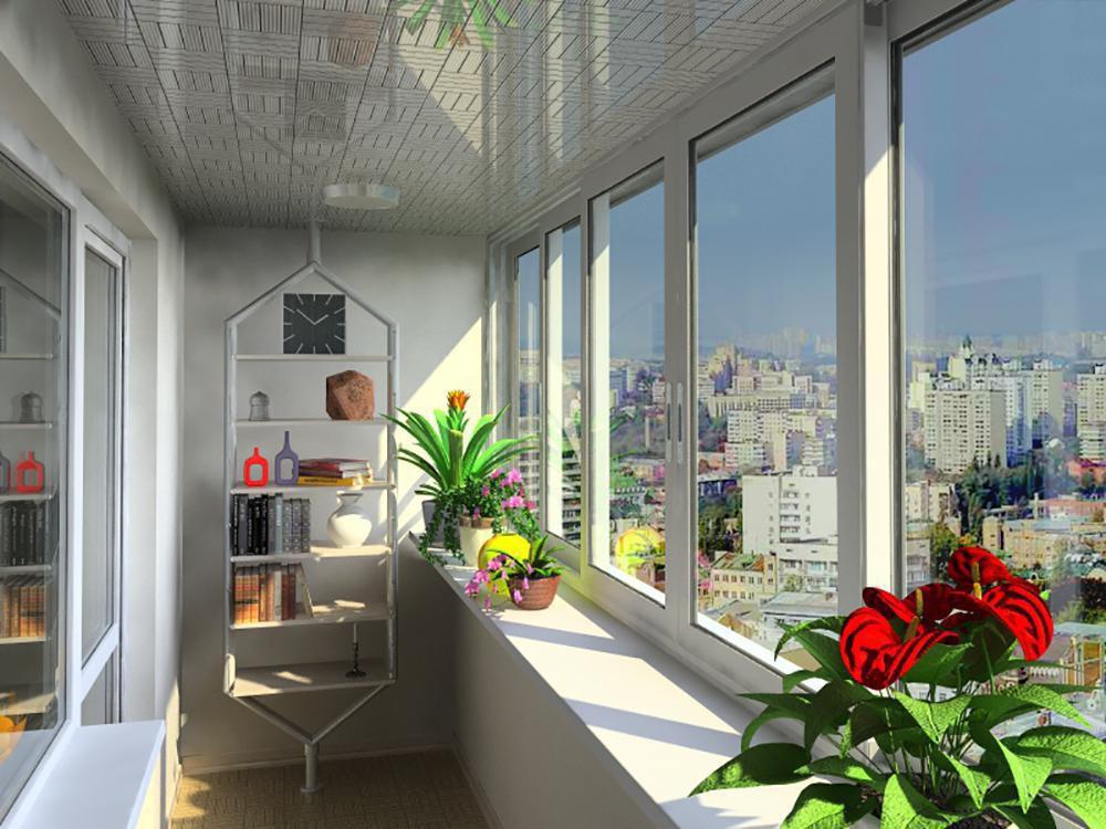 Алюминиевые окна для балконов и лоджий.