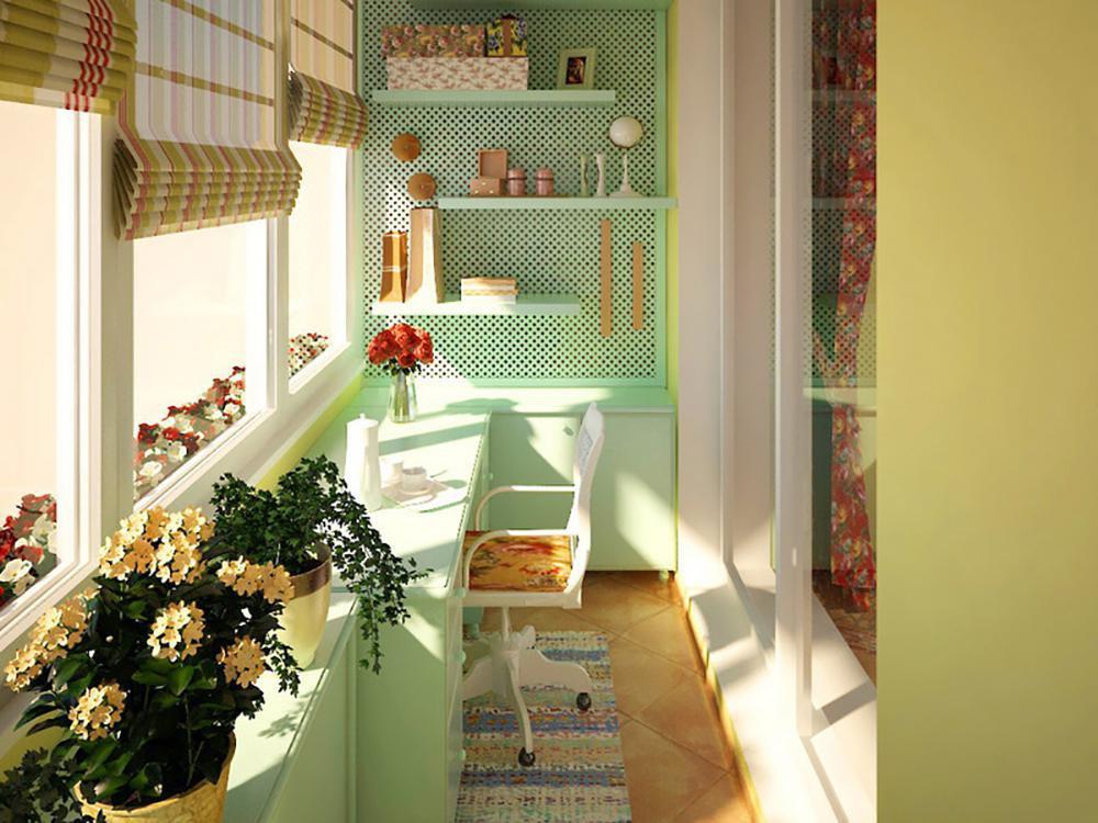 Дизайн балконов и лоджий в кухне.