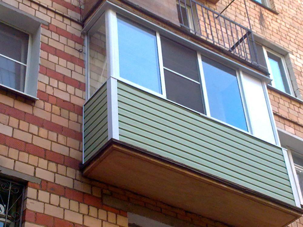 Обшивка балконов и лоджий под ключ.
