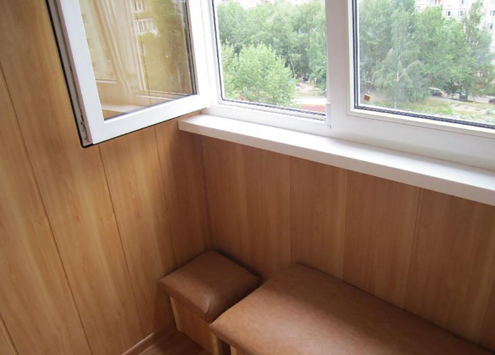 Обшивка балкона видио мдф.
