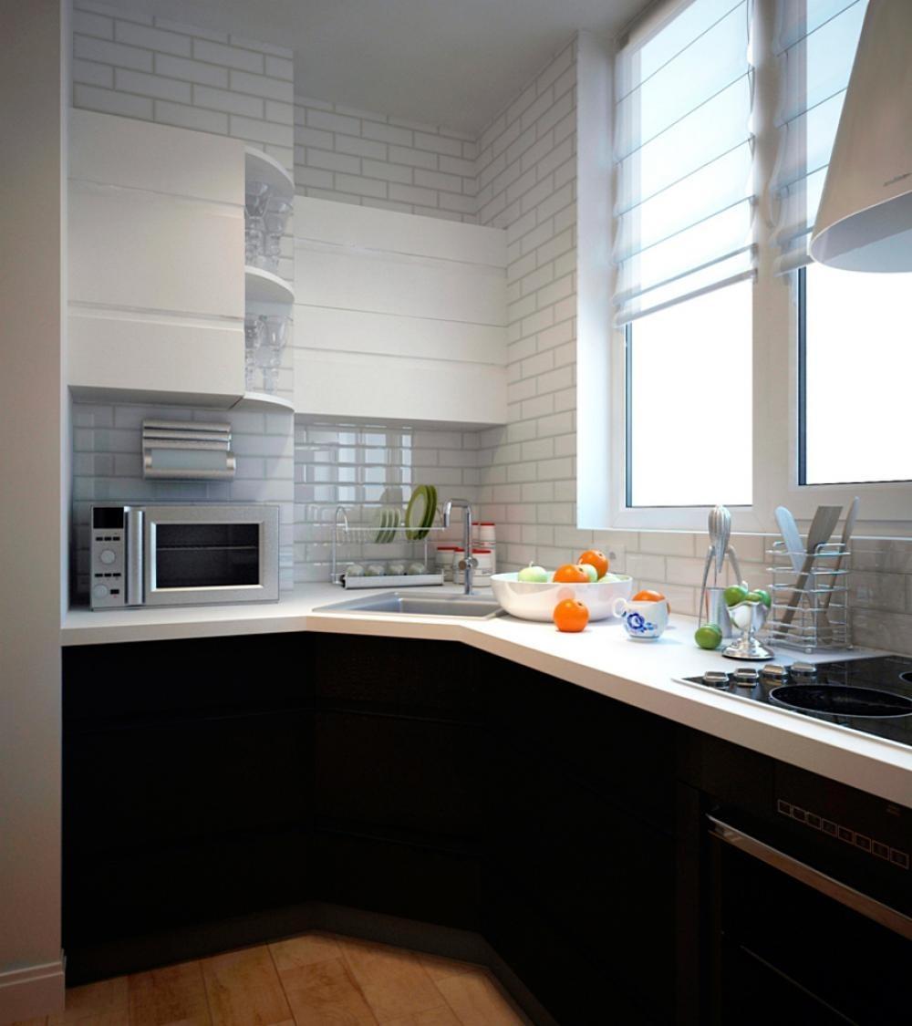 Фото примеры кухонь на балконах и лоджиях.