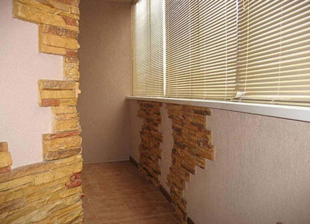 """Отделка балконов и лоджий плиткой компания """"окна борна""""."""
