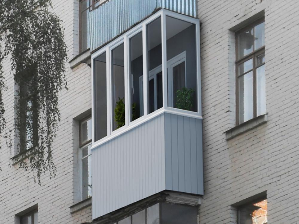 Застеклить балкон в хрущевке фото.
