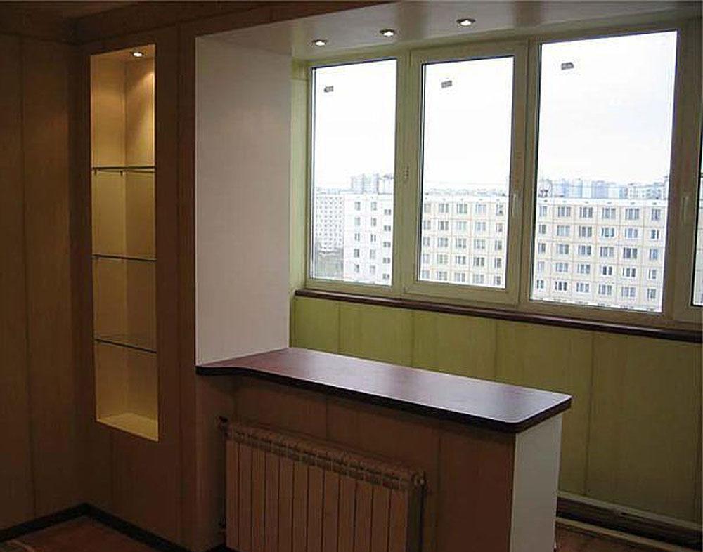 Соединение комнаты с балконом последовательность робот.