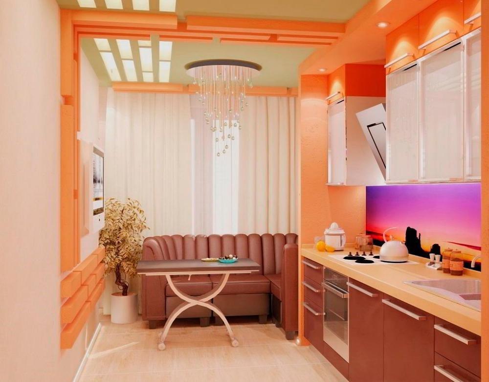Дизайн совмещенной кухни совмещенной с балконом