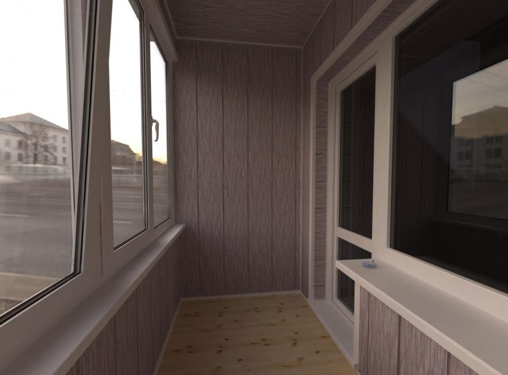 Примеры отделки балконов панелями мдф.