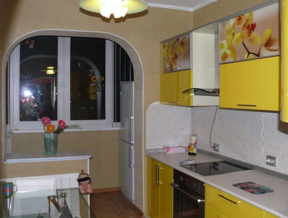 Идеи для кухни с балконом 9 кв.м фото