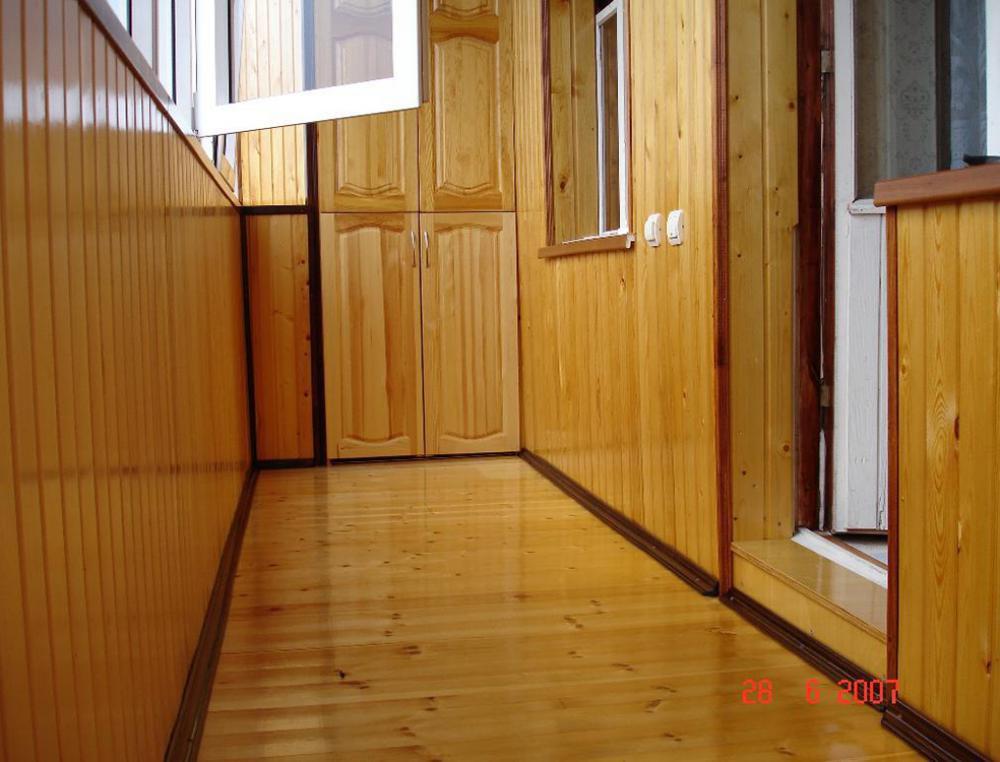 примеры обшивки вагонкой балконов и лоджий